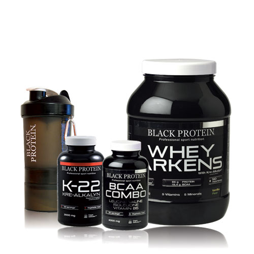 black protein pack prise de muscle 13 prot ines. Black Bedroom Furniture Sets. Home Design Ideas