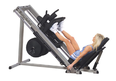 bodysolid club line leg press et hack squat 45 degr s postes isol s. Black Bedroom Furniture Sets. Home Design Ideas