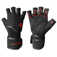 Accessoires musculation Weightlifting gloves with Wrist Support Taille M Black/red