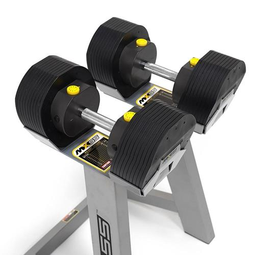 Haltères et supports MX-55 Ajustable Dumbell Set