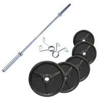 FITNESS DOCTORPack Poids Olympiques 140 kg + barre + stop disques
