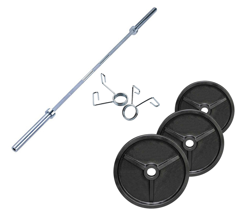FITNESS DOCTOR - Pack Poids Olympiques 70 kg + barre + stop disques