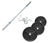 FITNESS DOCTOR Pack Poids Olympiques 70 kg + barre + stop disques