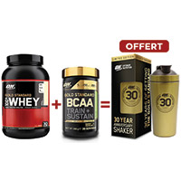 OPTIMUM NUTRITION Pack Anniversaire Whey BCAA Gold Standard