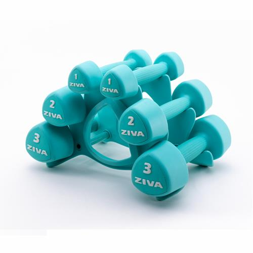 Haltères et supports Studio Tribell Dumbellset (2 x 1kg, 2kg and 3kg)